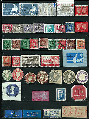 Great Britain - 44 stamps mixed - Years 1888  to recent....B.O.B., etc.