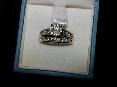 9k Gold Diamond Bridal Wedding set