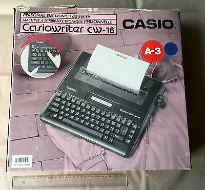 CASIO CASIOWRITER PERSONAL ELECTRIC TYPEWRITER CW-16 IN BOX it works great