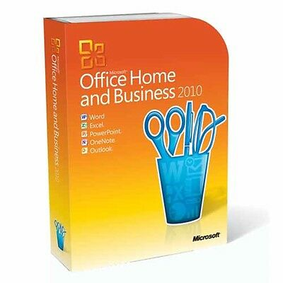 Microsoft Office Home & Business 2010 Retail FULL VERSION DVD