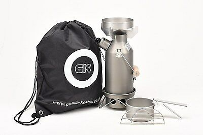 Ghillie Kettle/Storm Kettle 0.5L Maverick Full Kit Hard Anodised.