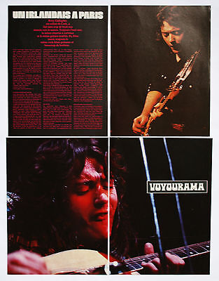 Rory Gallagher (Ex Taste) Clippings / Cutting / Mini Poster / Pin Up  # 2  Rare