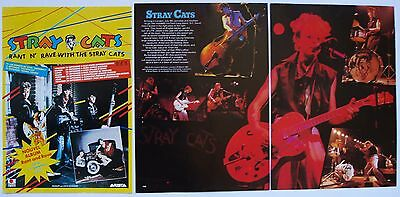 Stray Cats   Miniposter / Cutting / Clipping  From Various Rock Magazine Rare