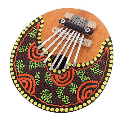 Kalimba Thumb Piano 7 Keys Tunable Coconut Shell Painted Musical Instrument CZ