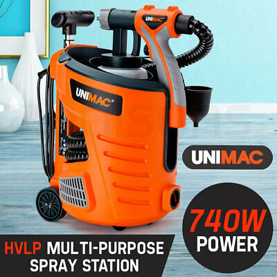 NEW Unimac 740W HVLP ELECTRIC PAINT SPRAYER GUN - DIY SPRAY STATION TOOL