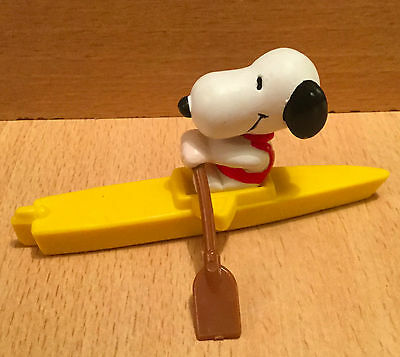 Snoopy Peanut Pvc Figure Schleich On Yellow Boat Rowing