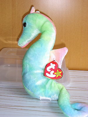 Ty Beanie Babies Soft Toy Neon The Seahorse Ty Beanies