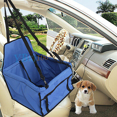 Dog Cat Pet Car Seat Cover Booster Soft Travel Bag Mat Cage Carrier Blue NEW
