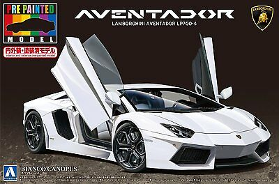Aoshima 11393 1/24 Lamborghini Aventador LP700-4 White from Japan