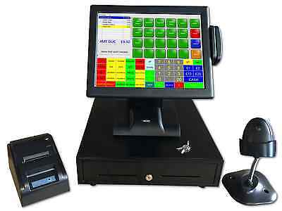 "ALL IN ONE 15"" Touch Screen EPOS System Bar Restaurant Cafe optional Kitchen KP"