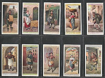 1916,john Player & Sons,cries Of London-2Nd Series,full Set Of 25 Cards