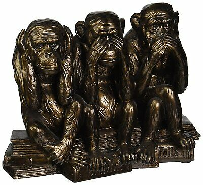Indoor Monkeys Statue Sculpture Ornament Home Decor Decoration Resin Bronze