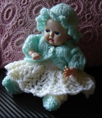 """Lovely Vintage Rosebud suck a thumb baby doll. . Approx 6"""" tall"""