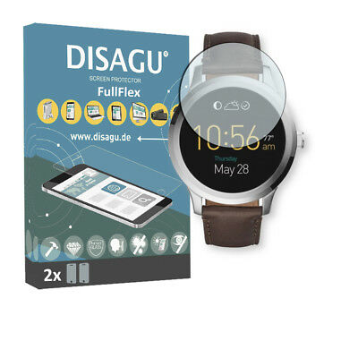 2x Disagu FullFlex screen protector for Fossil Q Founder 2.0 foil
