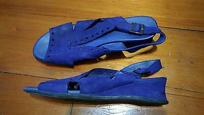 Arche Royal Blue Leather Sandals Size 41 Near New