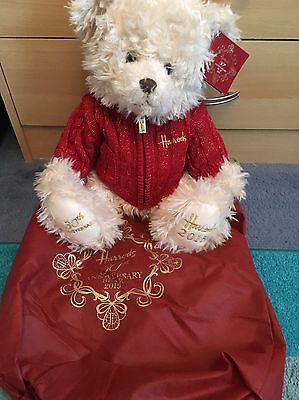 Brand New Harrods 30th Anniversary 2015 Edition Bear With Dust Bag