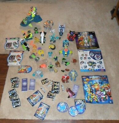 Planet Heros Fisher Price Huge Lot Dvd Trading Cards Figures