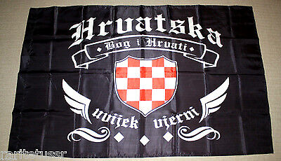 Flag Ukrainian Army Azov Regiment Battalion Croatian Soldiers Volunteers Unit