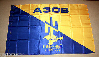 Flag Ukrainian Army Azov Crimea Civic Corps Regiment Battalion * War Ukraine