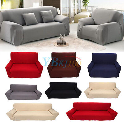Washable 1/2/3/4 Seater Stretch Sofa Couch Covers Slip Cover Case Protector TP