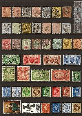 Great Britain collection of 48 Q.Victoria to Q,Eliz. Unmounted Mint to Good Used
