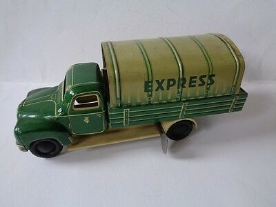 Vintage Tin Tippco Truck Express , TCO-003 with Tiltcap (wind-up)