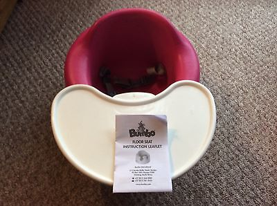 Dark Pink Bumbo Baby Seat & Play Food Activity Tray Nursery Item,child,harness