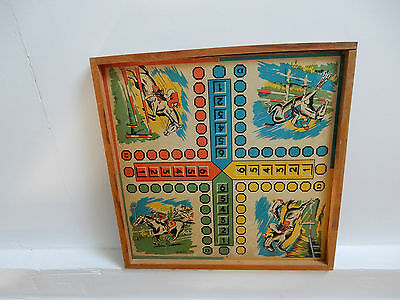 Vintage Childs Gaming Board Two Sided  Horse Racing