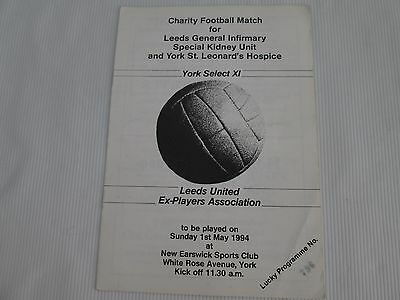 1994 FRIENDLY CHARITY MATCH YORK SELECT X1 v LEEDS UNITED EX-PLAYERS ASSOCIATION