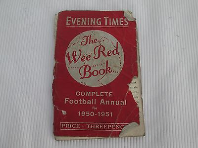 1950-51 Evening Times Wee Red Book The Football Annual