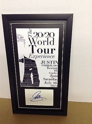 Justin Timberlake Genuine Hand Signed/Autographed Card with Poster and COA