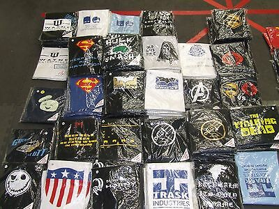 Massive Job Lot Of Printed Sci-Fi  T Shirts Market Trader / Car Boot Approx 167