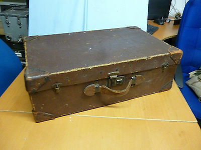 Vintage Papworth Type Canvas 30s/40's Suitcase Shabby Chic