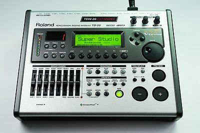 Roland TD-20 Percussion Module with TDW-20 expansion and V-Expression Kit packs