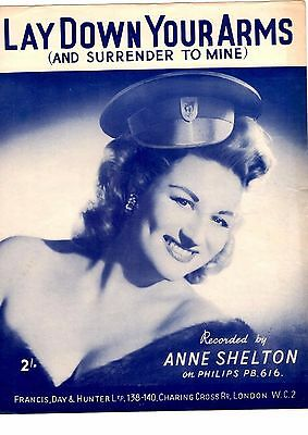 Song Sheet For Piano - Lay Down Your Arms - Anne Shelton