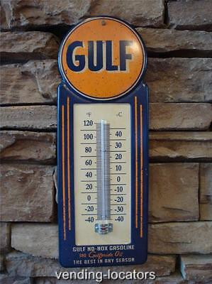 Gulf Thermometer Motor Oil Gas Petroleum Collectible Texaco Mobil Sinclair GULF