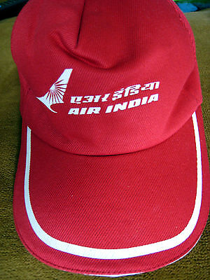 AIR INDIA CAP - RED - ONE SIZE FITS ALL - NEW - NEVER WORN txa171111tk