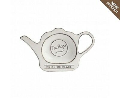 T & G Woodware-Pride of Place - Tea Bag Tidy - White