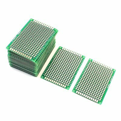 Uxcell 25Pcs Double Sided Protoboard Prototyping Pcb Board 4cm x 6cm