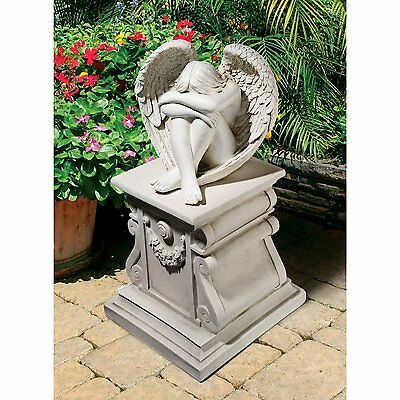 Solitude Angel Garden Statue Outdoor Sculpture Patio Ornament Decor Resin Stone