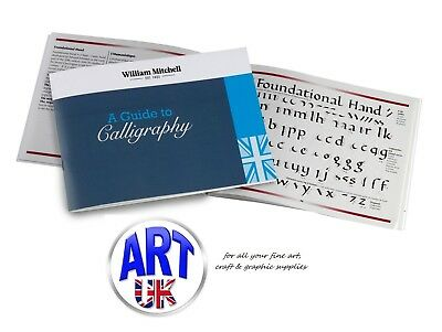 William Mitchell A GUIDE TO CALLIGRAPHY book Round Hand Italic Gothic Uncial