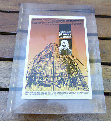 Planet of the Apes Mini Poster Replica in Lucite Limited Edition of 1968  1/1968