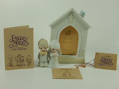 Precious Moments E7166 Mint Original Box Tags Fish The Lord Bless And Keep You