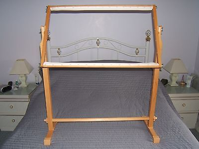 """Tapestry Frame & Floor Stand   (  Large  27"""" Rollers)"""