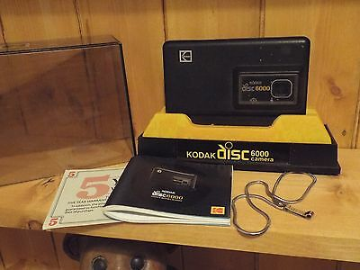 Vintage Kodak Disc 6000 Camera In Box With Instructions And Wrist Strap
