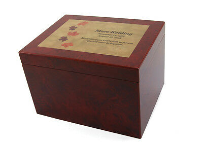 Wood Adult 300 Cubic Inch Funeral Cremation Urn for Ashes