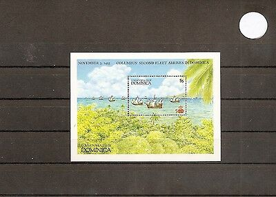 Dominica 1987 SG1084a ms 1v sheet Columbus-Arrival of 2nd Fleet 1493