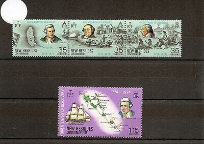 New Hebrides 1974 SG192-5 4v NHM Captain Cook/Wm. Hodges/-Bicent. of Discovery