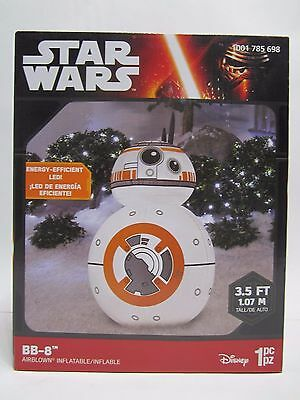 star wars bb 8 air blown inflatable lighted outdoor lawn christmas decoration - Star Wars Blow Up Christmas Decorations