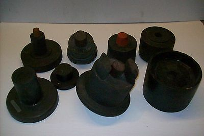 Lot Of 8 Antique Machine Industrial Wood Foundry Mold Cast Patterns Steampunk